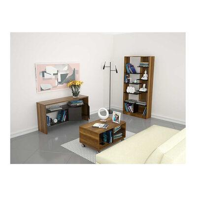 Combo Biblioteca Con Arrimo + Mesa De Centro Tuhome Classic Color