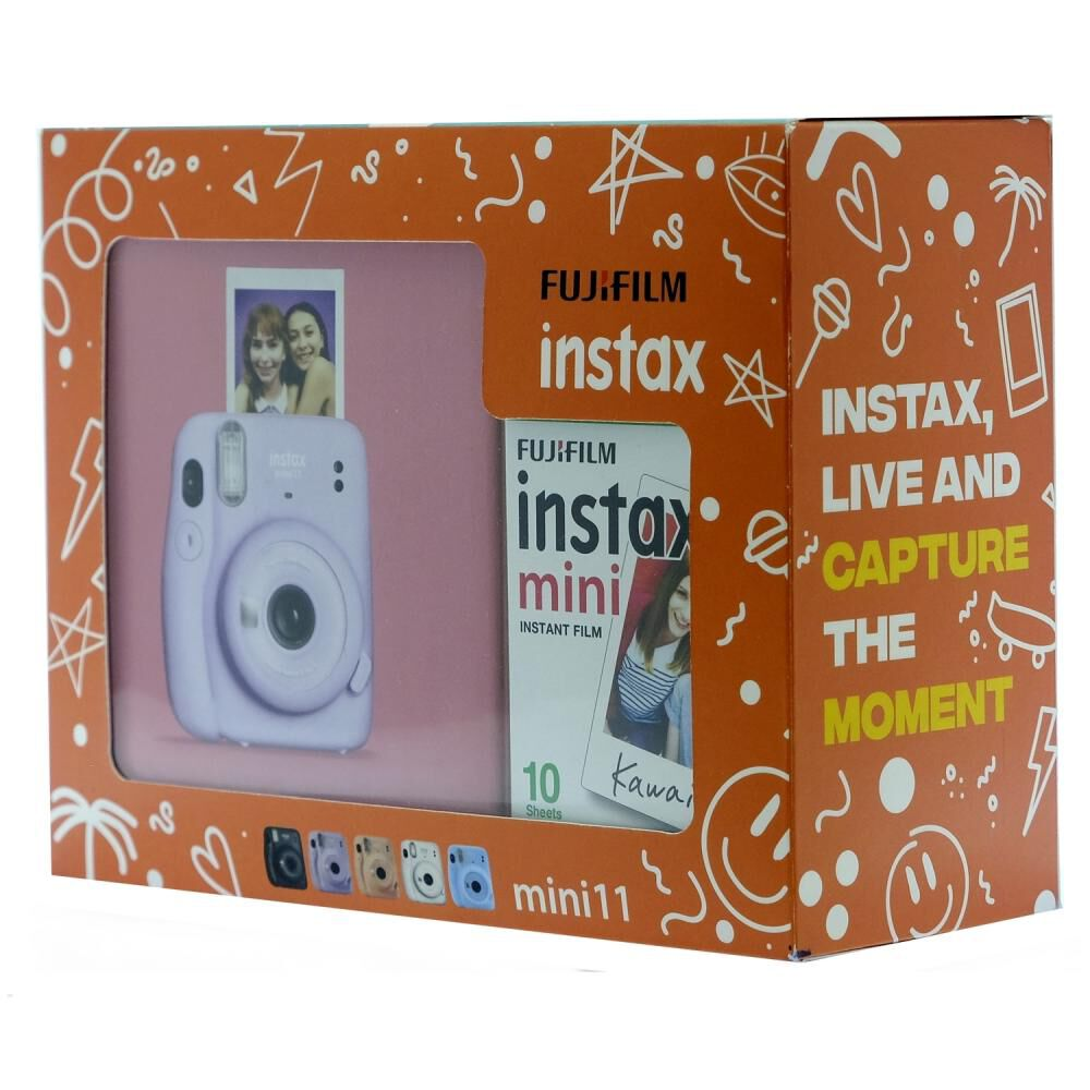 Cámara Instantánea Fujifilm Instax Mini 11 Lila + Película image number 2.0