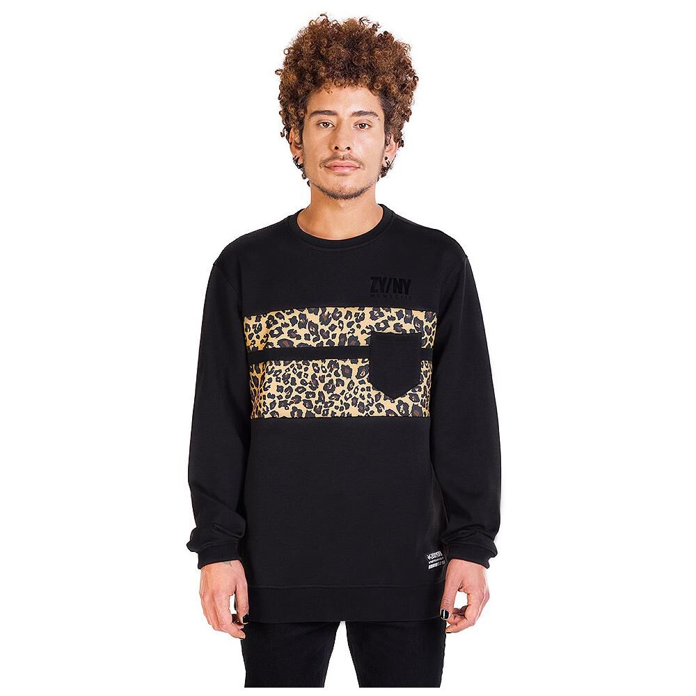 Polerón Hombre Zoo York Crew Neck Leopard image number 3.0