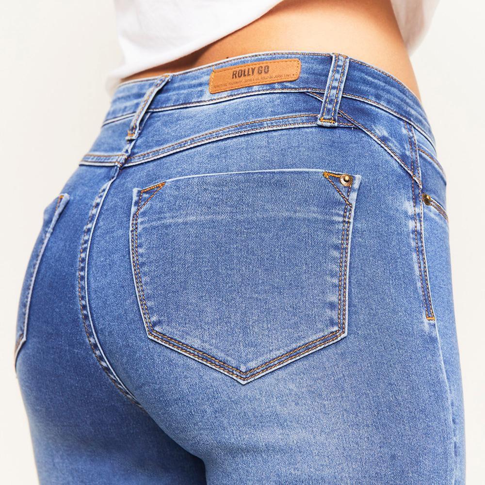 Jeans Básico Tiro Alto Super Skinny Mujer Rolly Go image number 4.0