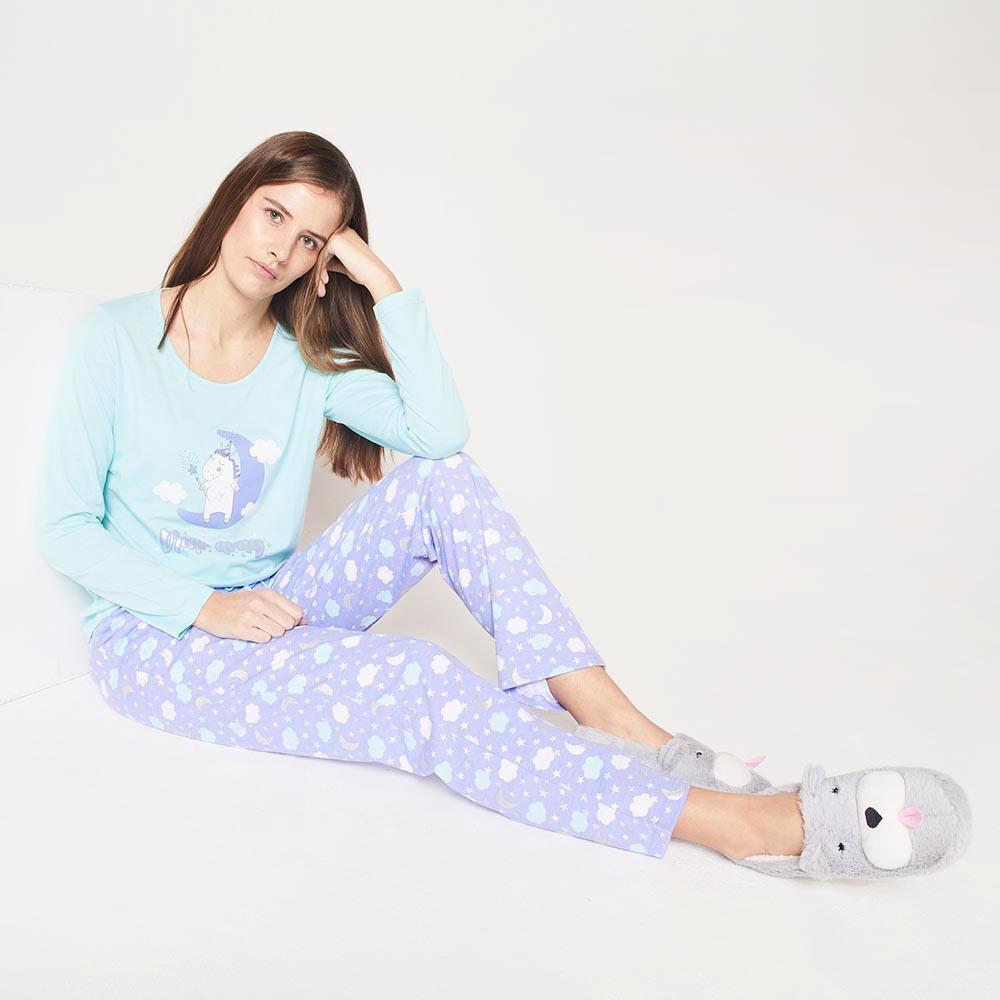 Pijama Algodón  Mujer Freedom image number 1.0