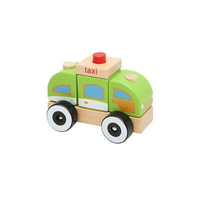 Juguete De Madera Baby Way Taxi Bw-Jm12