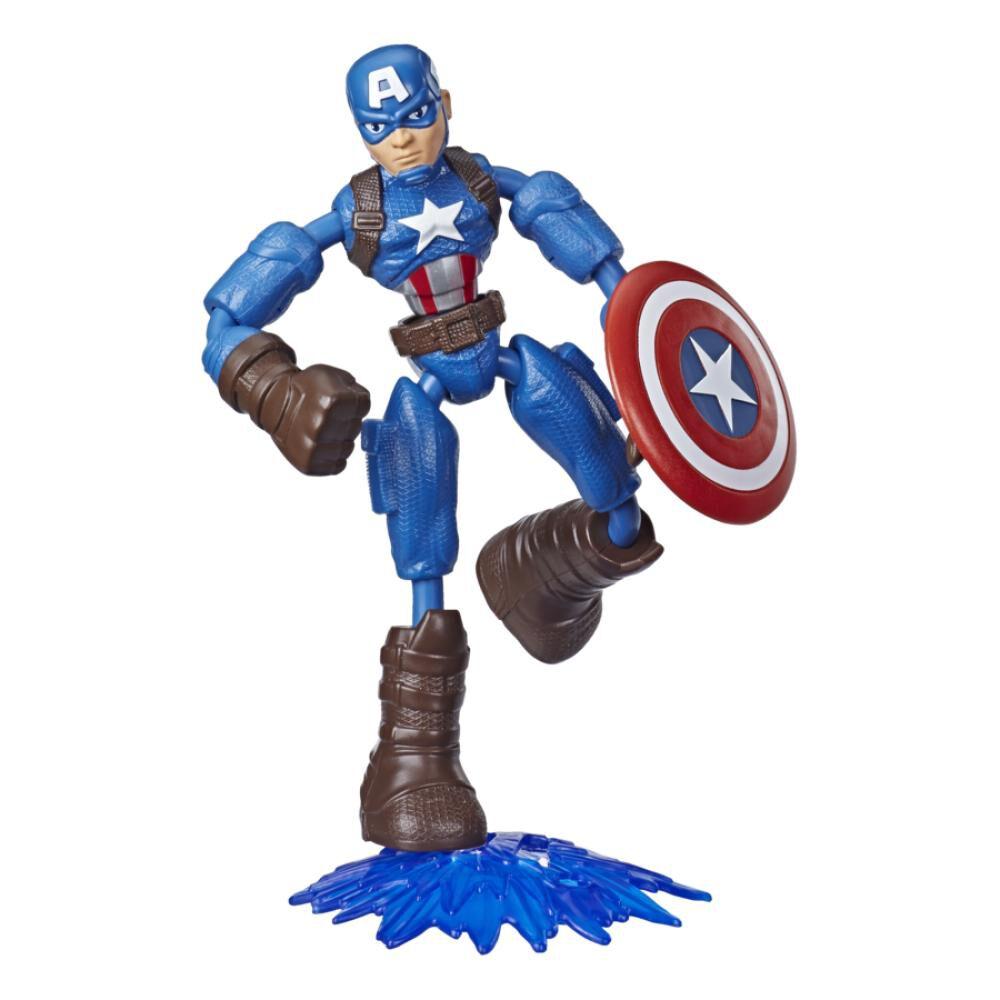 Figura De Accion Avenger Avn Bend And Flex Captain America image number 0.0
