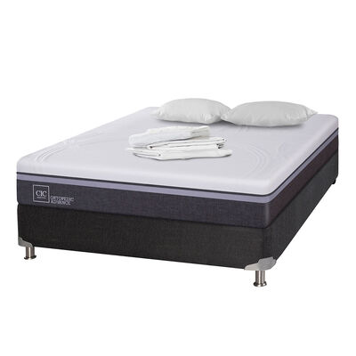 Box Spring Cic Ortopedic Advance / 2 Plazas / Base Normal + Textil
