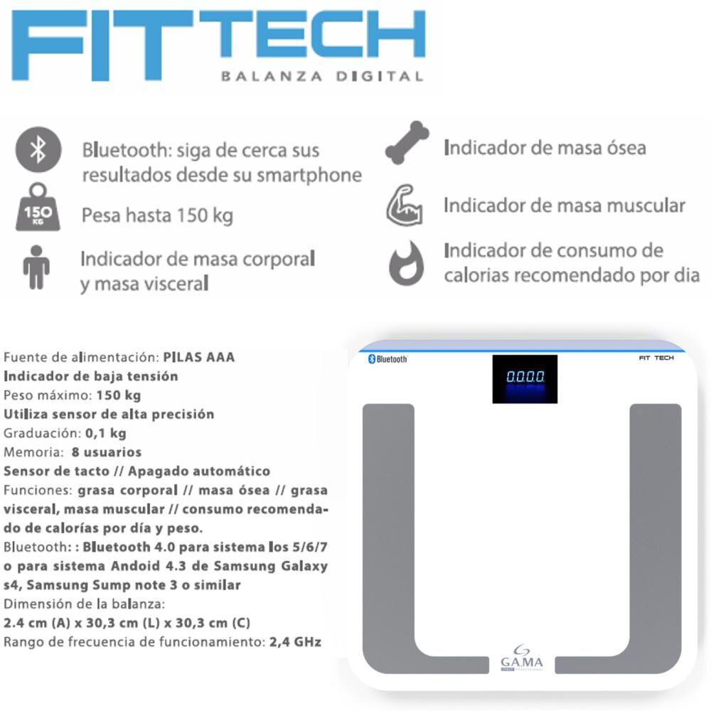 Balanza Diagnóstica Gama Fit Tech / Hasta 150 Kg. image number 3.0