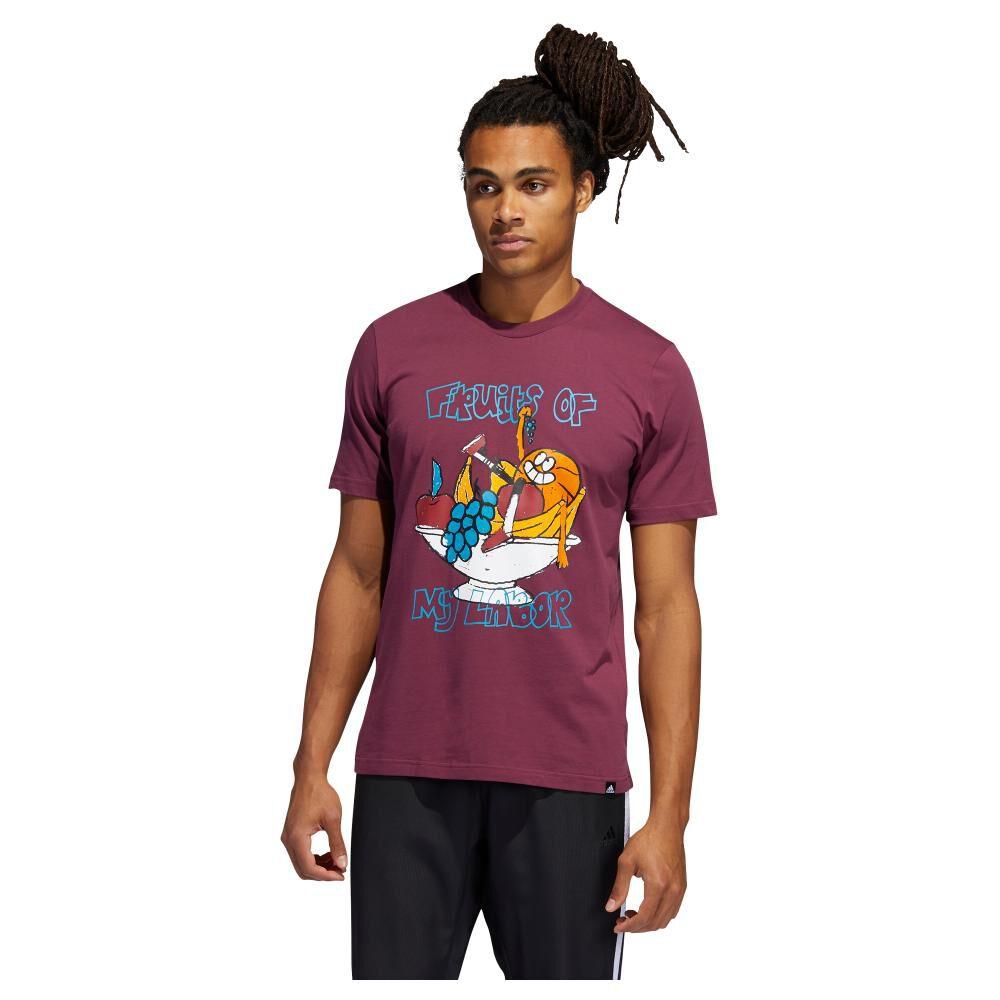 Polera Hombre Adidas Estampado De Frutas Lil Stripe image number 1.0