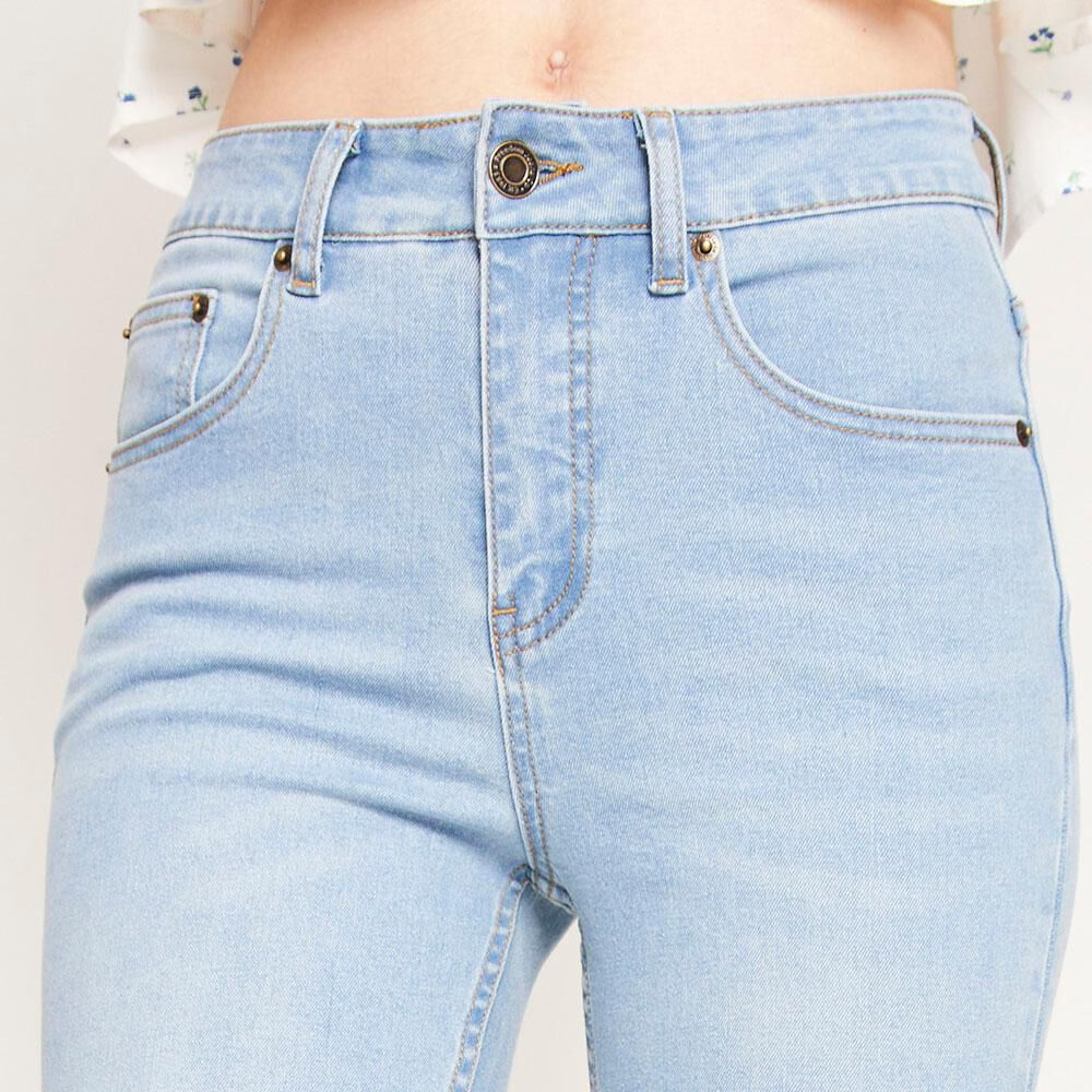 Jeans Tiro Alto Flare Mujer Freedom image number 3.0