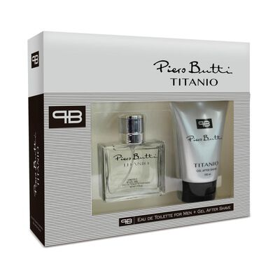 Estuche Frangacia Titanio + Gel After Shave Piero Butti