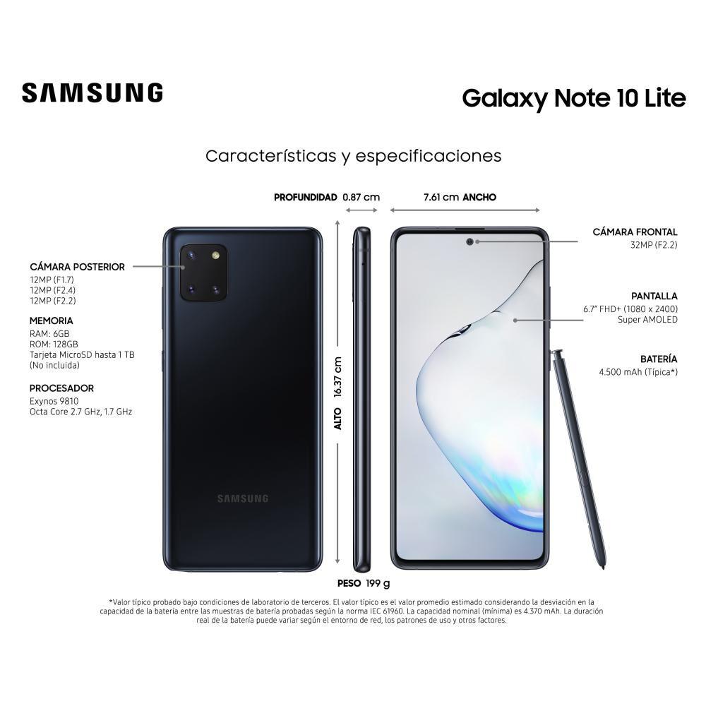 Smartphone Samsung Note 10 Lite 128 Gb / Liberado image number 6.0