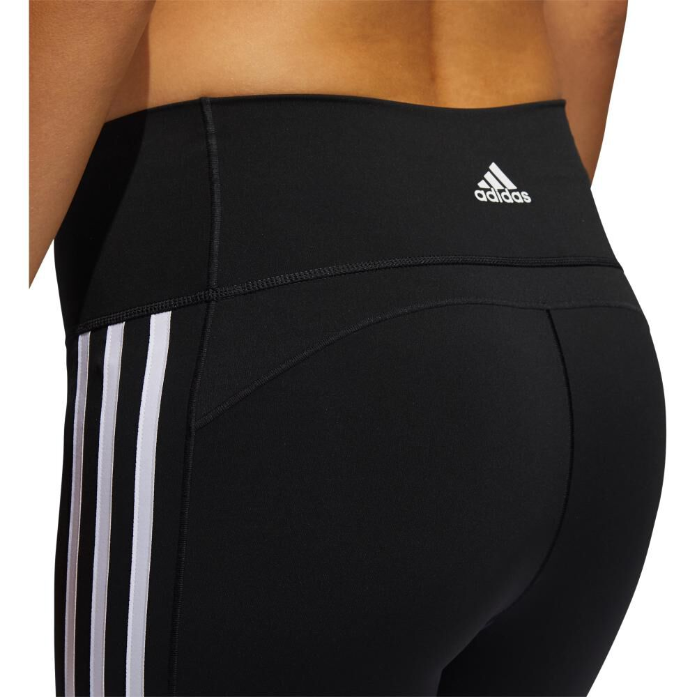 Calza Mujer Adidas Believe This 2.0 3 Stripe 7/8 Tight image number 4.0