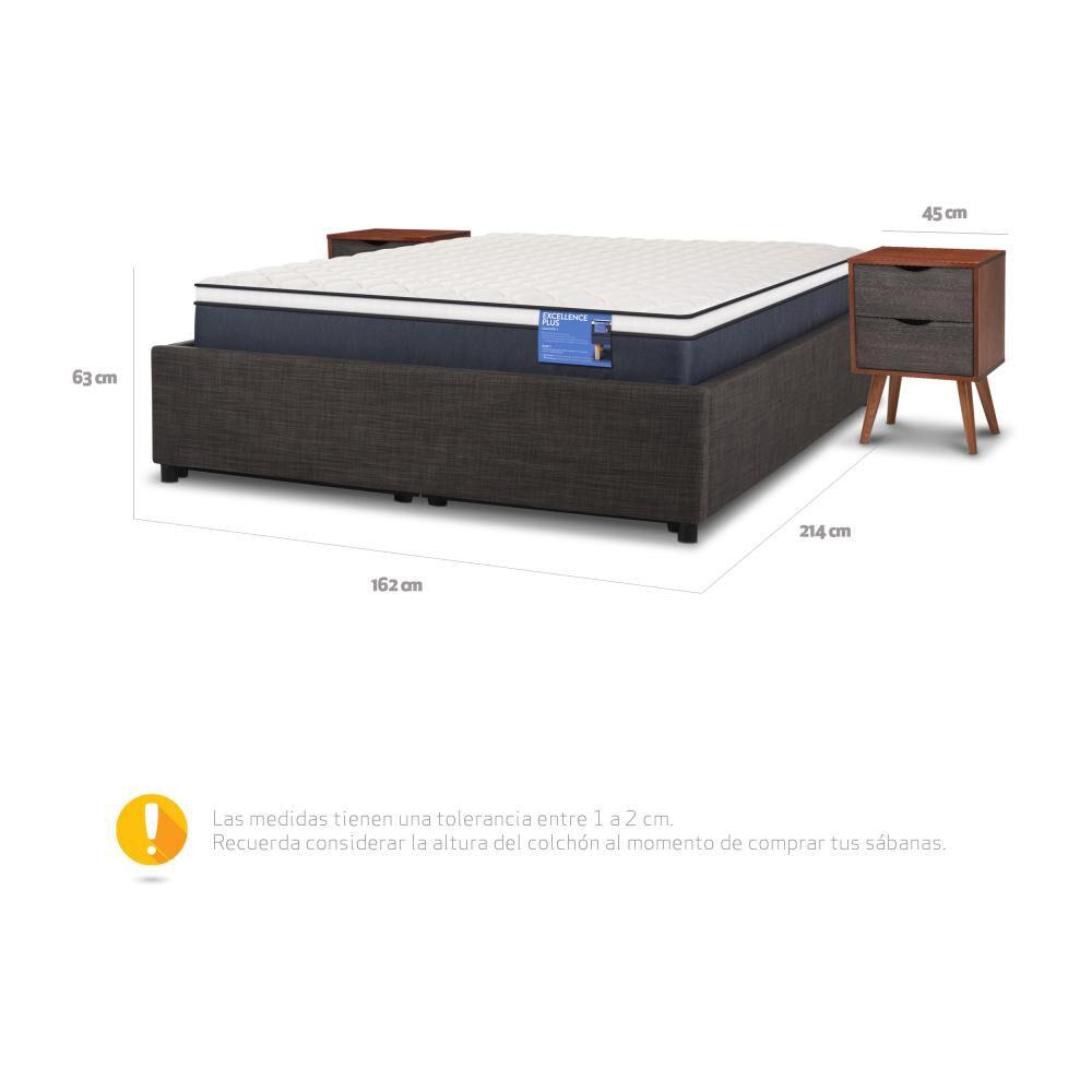 Cama Baúl Cic Excellence Plus / 2 Plazas / Base Normal + Velador image number 5.0