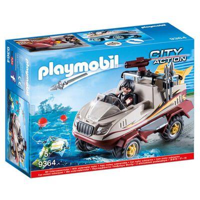 Figura De Acción Playmobil Coche Anfibio