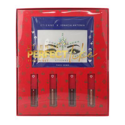 Set De Labios Etienne Perfect Like + Face Gems