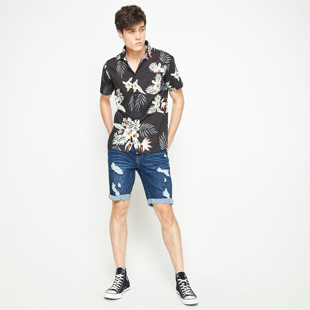 Camisa Manga Corta Con Diseño Hombre Rolly Go image number 1.0