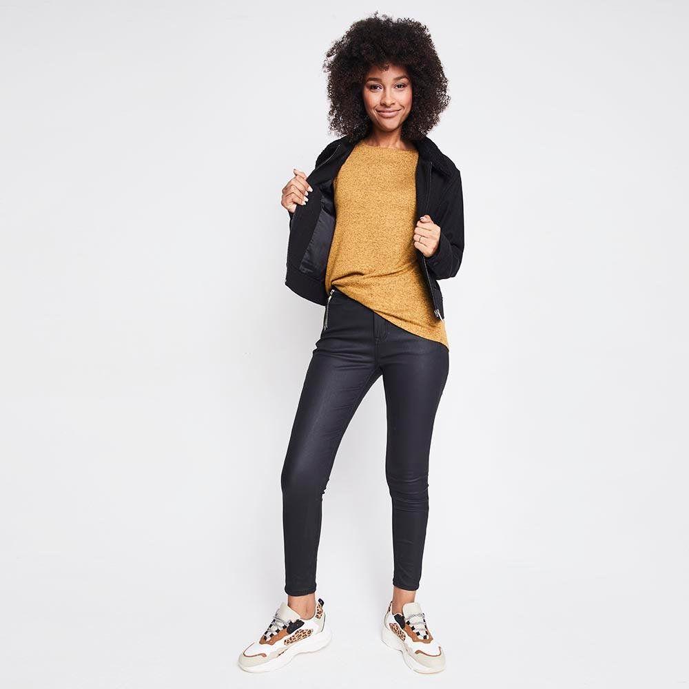 Sweater Jaspeado Largo Mujer Rolly Go image number 1.0