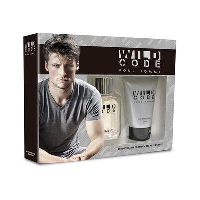 Estuche Fragancia Wild Code 55 Ml Edt + Gel After Shave