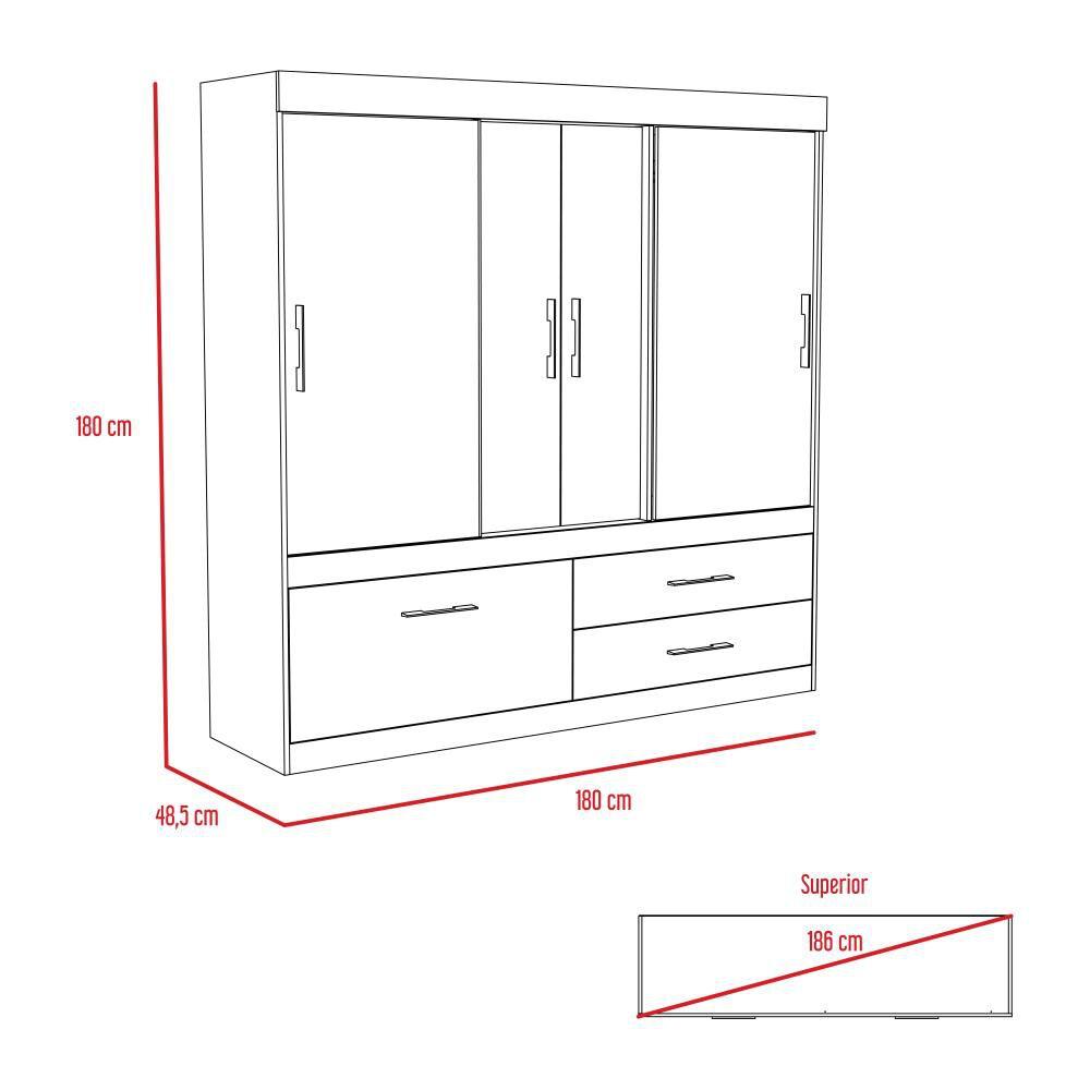 Closet Tuhome Allegro/ 5 Puertas/ 1 Cajon image number 6.0
