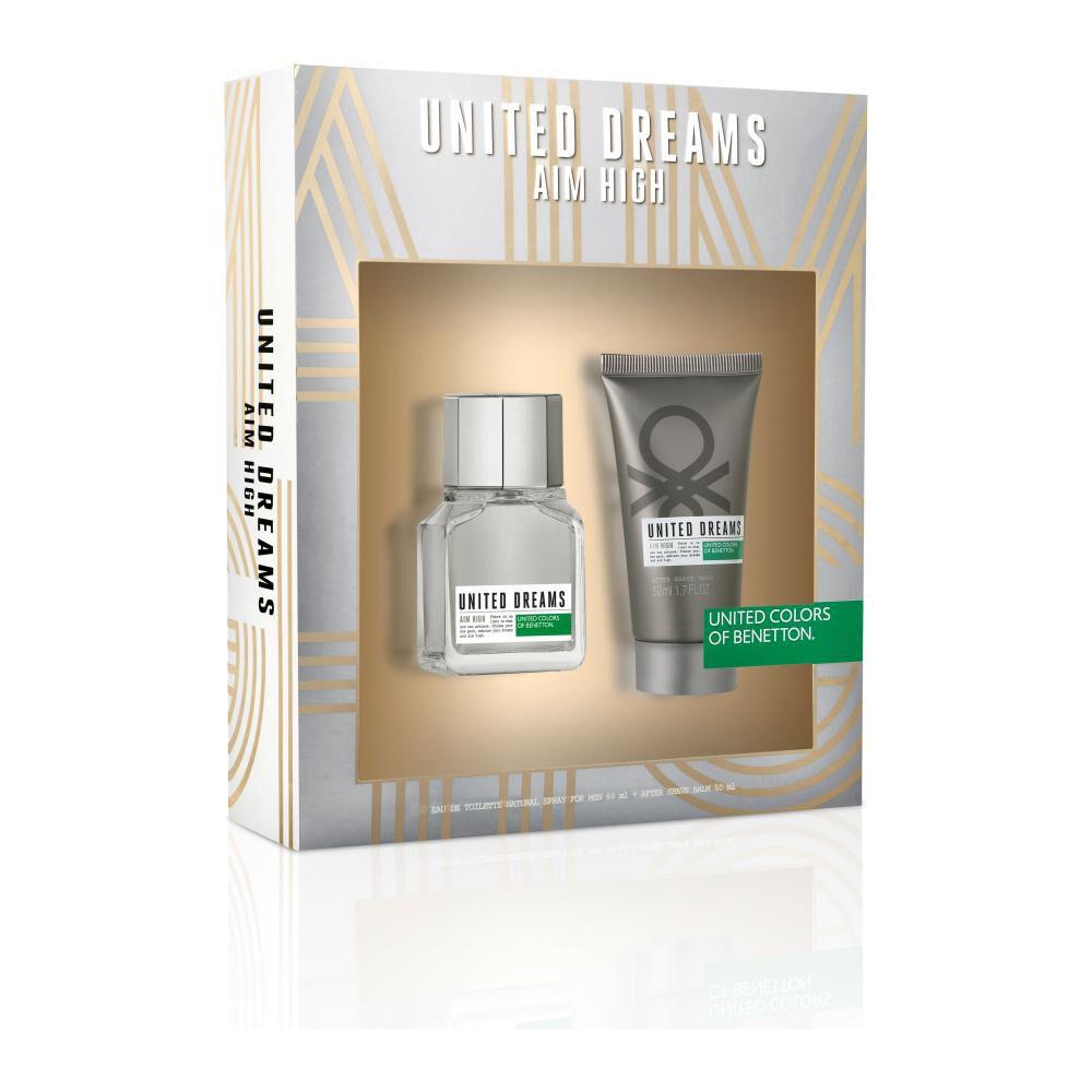 Perfume U.d. Aim High Benetton / 60 Ml / Eau De Toillete + After Shave 50ml image number 0.0