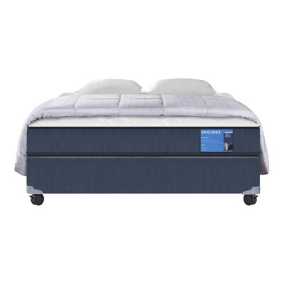 Cama Americana Cic Excellence / Full / Base Normal + Textil