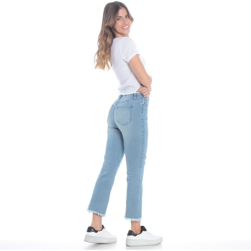 Jeans Mujer Crop Flare Wados image number 4.0