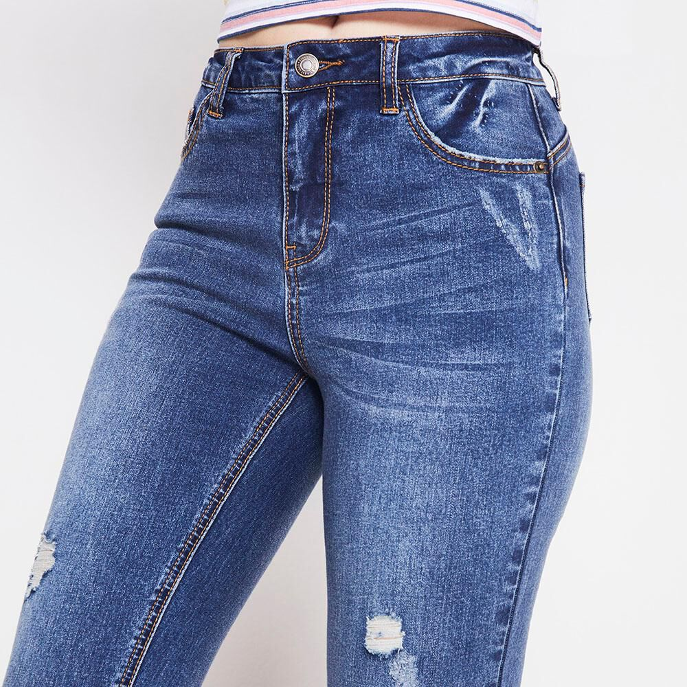 Jeans Tiro Alto Push Up Mujer Freedom image number 3.0