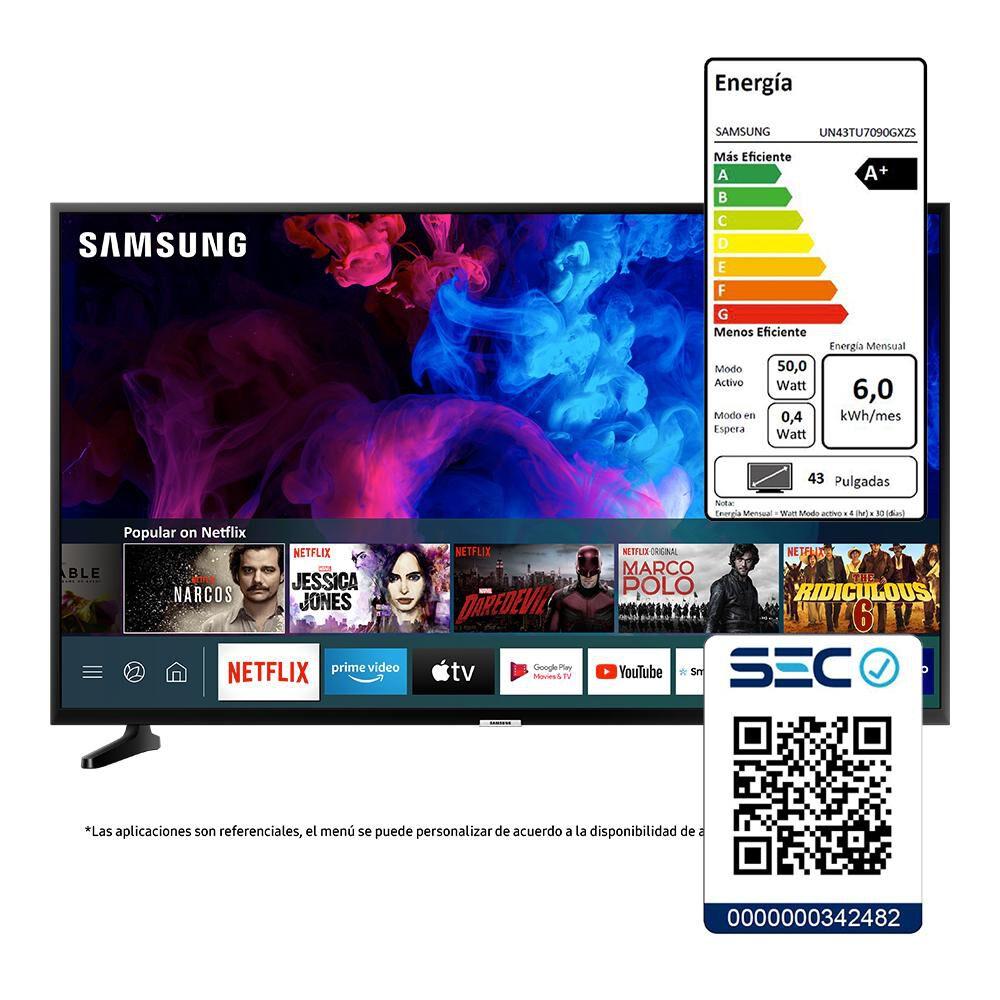 """Led Samsung TU7090 / 43"""" / Crystal Ultra Hd 4K /Smart Tv image number 7.0"""