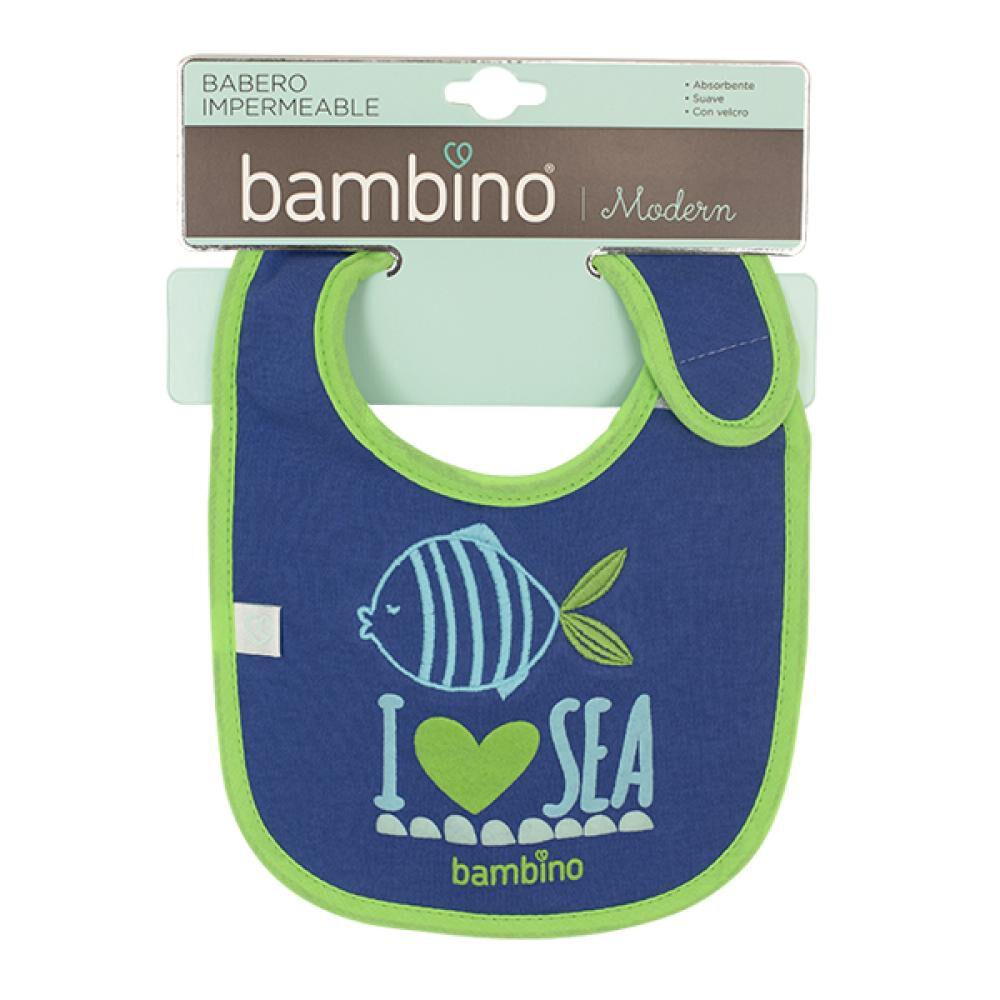 Babero Toalla Impermeable Pez I Love Sea Bambino  image number 1.0