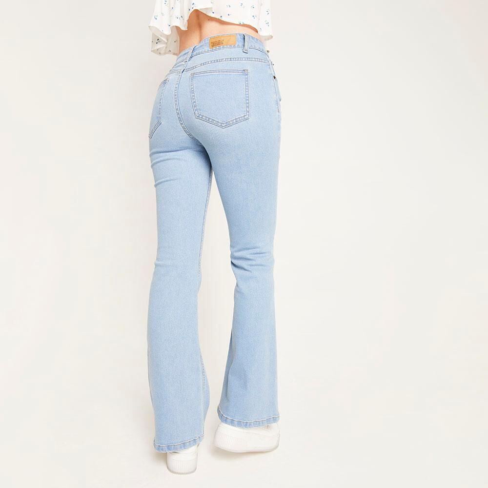 Jeans Tiro Alto Flare Mujer Freedom image number 2.0