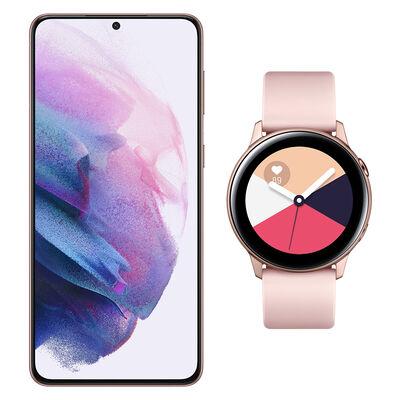 Smartphone Samsung S21 Plus Morado + Galaxy Active Gold