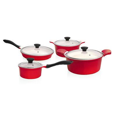 Batería De Cocina Kw Simply Red / 10 Piezas