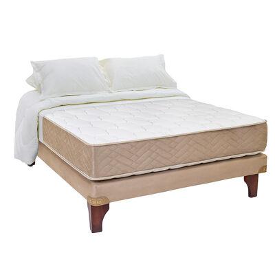 Cama Europea Celta Bamboo / 2 Plazas / Base Normal  + Textil