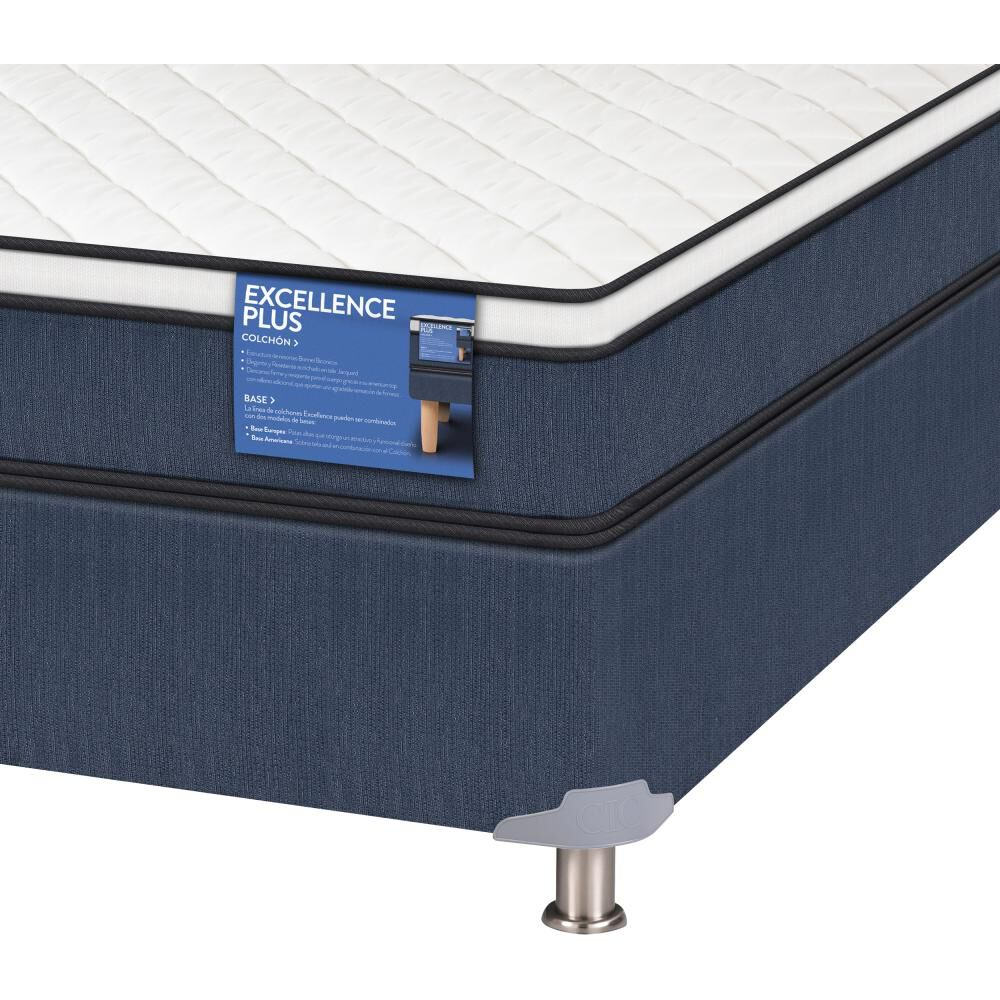 Cama Americana Cic Excellence Plus / 1 Plaza / Base Normal  + Set De Maderas image number 3.0