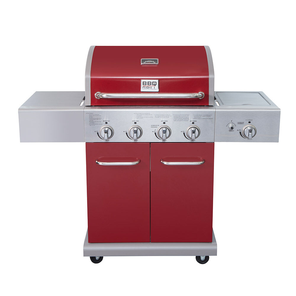 Parrilla A Gas Bbq Gril Bbq401Gcir / 4 Quemadores + Lateral Infrarojo image number 0.0