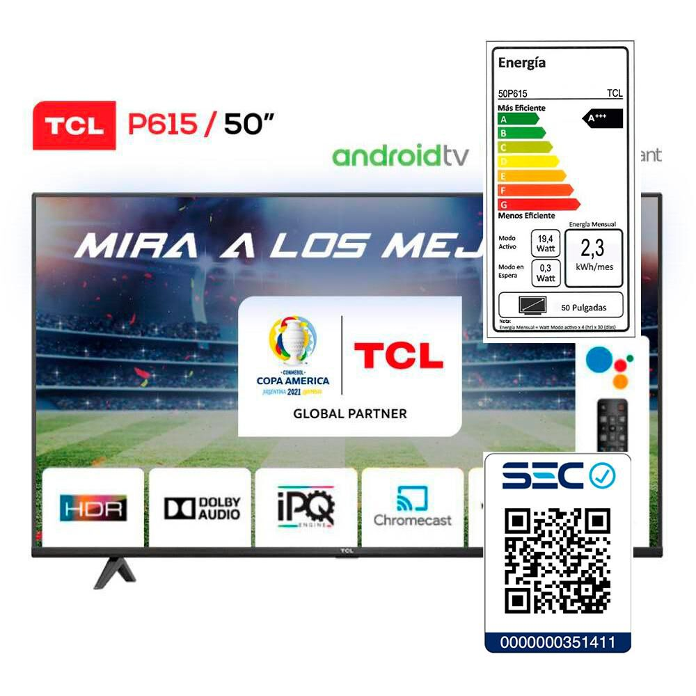 Led TCL 50P615 / 50'' / Ultra HD 4K / Android Tv image number 6.0
