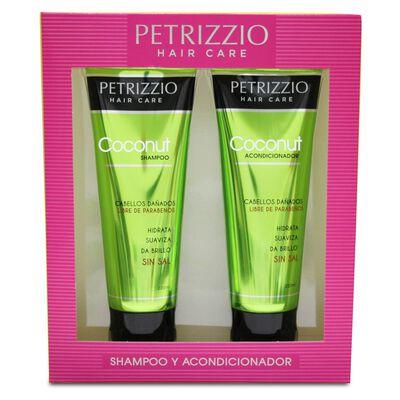 Estuche Petrizzio Shampoo + Acondicionador Coconut