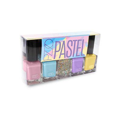 Set Esmaltes Petrizzio Nail Lacquer Pastel / 5 Colores