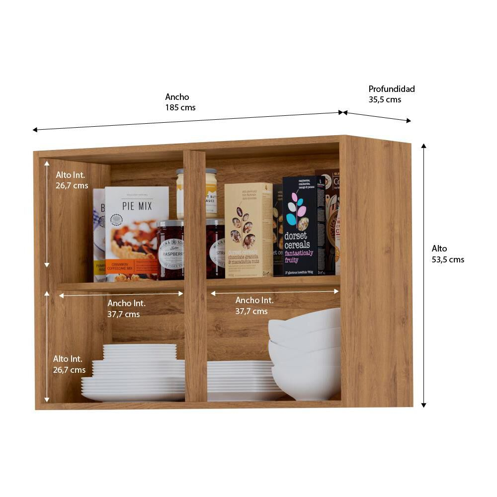 Mueble De Cocina Home Mobili Kalahari/montana / 2 Puertas image number 4.0