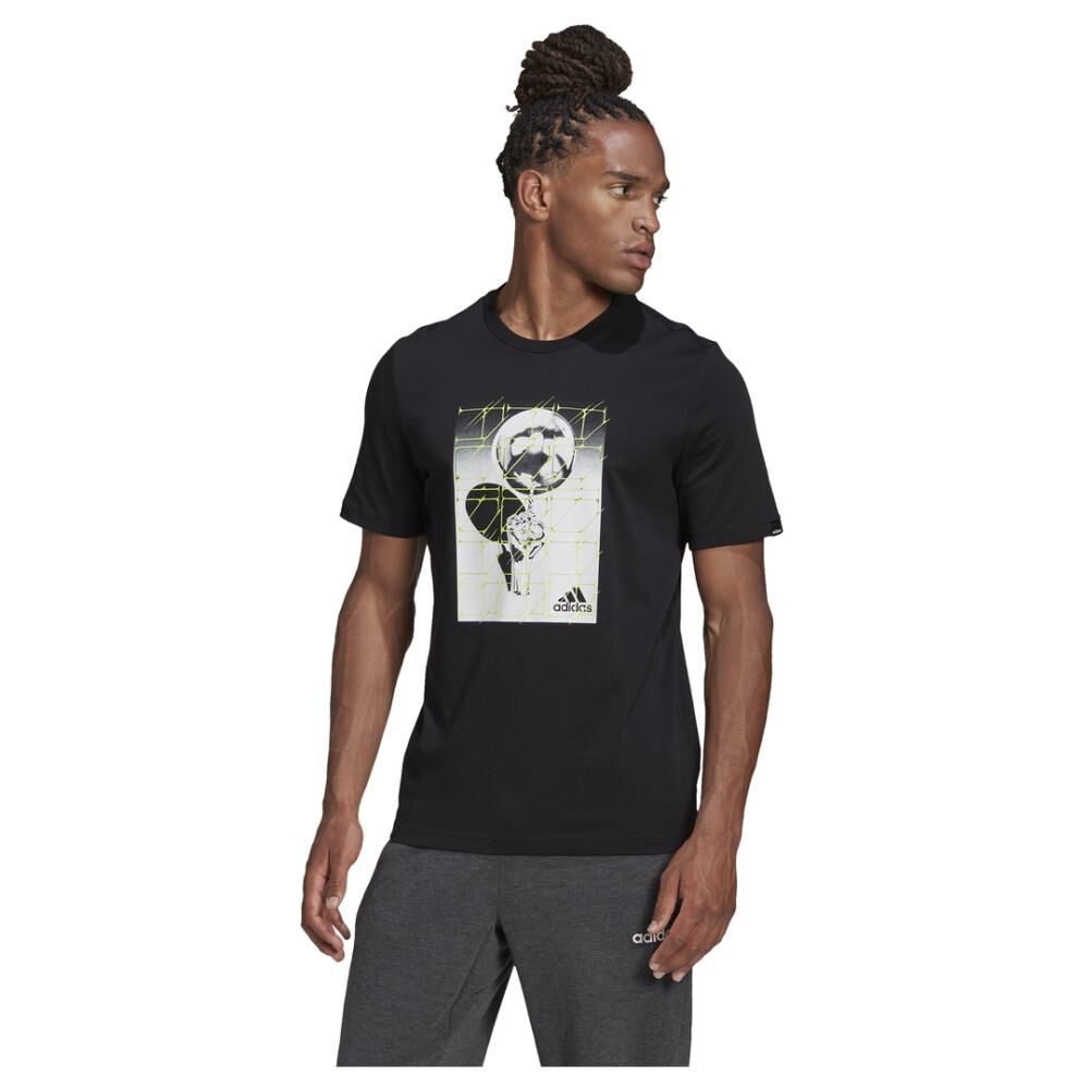 Polera Hombre Adidas M Hyperreal Ballspin Tee image number 0.0
