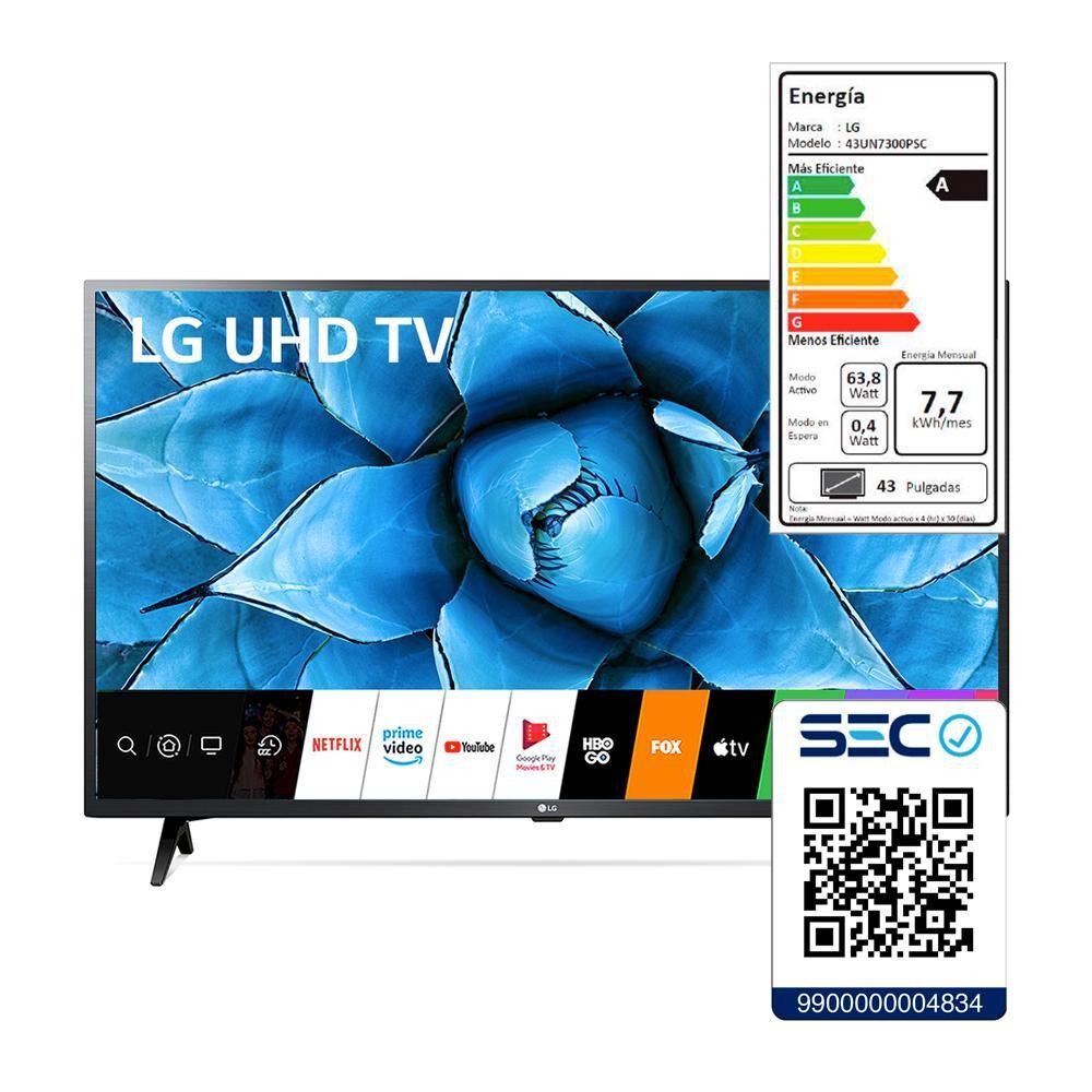 """Led LG 43UN7300PSC / 43"""" /  Ultra Hd  4K / Smart Tv image number 6.0"""