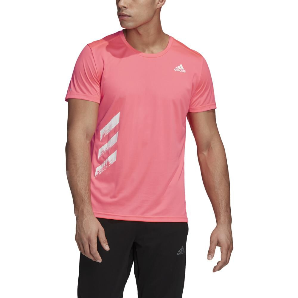 Polera Hombre Adidas Run It Pb 3 Bandas image number 3.0