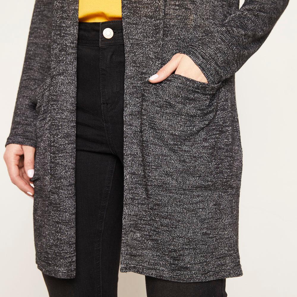 Tapado Largo Con Bolsillos Regular Fit Mujer Geeps image number 4.0