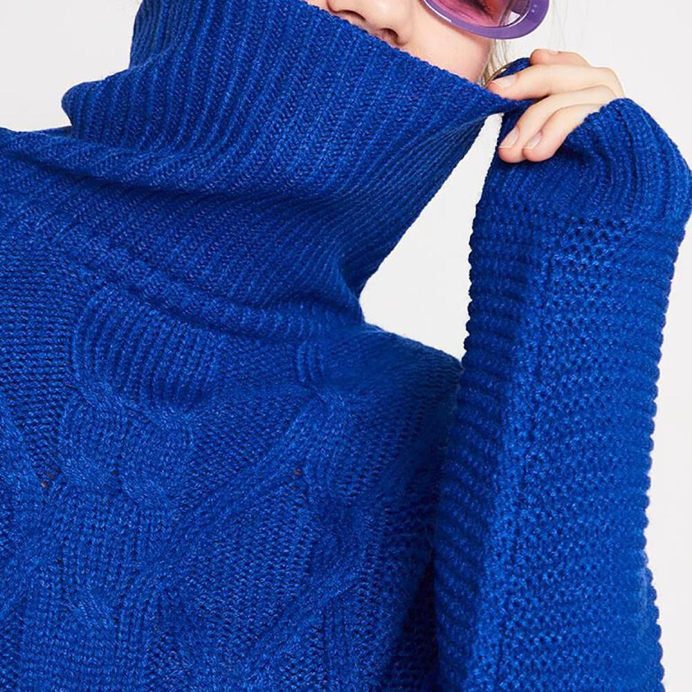 Sweater Trenzado Cuello Alto Mujer Freedom image number 3.0