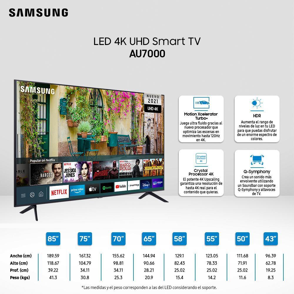 """Led Samsung AU7000 / 70"""" / Ultra Hd / 4k / Smart Tv 2021 image number 2.0"""