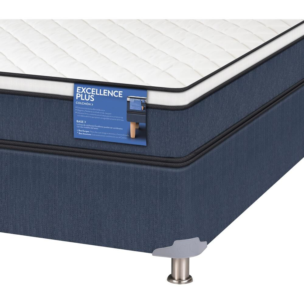 Cama Americana Cic Excellence Plus / 2 Plazas / Base Normal  + Set De Maderas image number 2.0