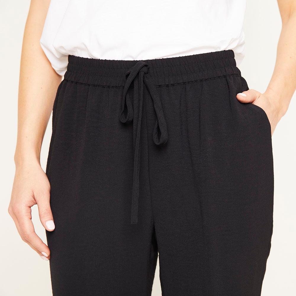 Pantalón Pretina Elasticada Tiro Medio Recto Mujer Kimera image number 3.0