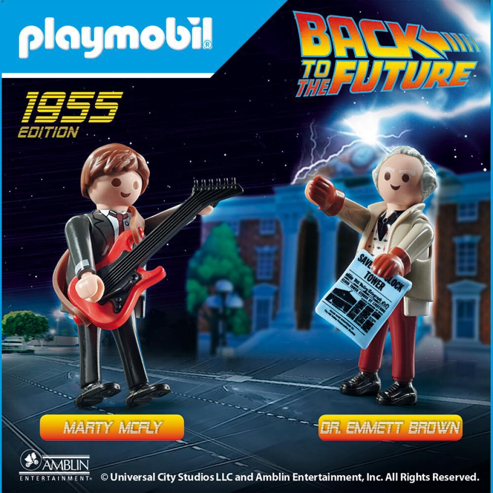 Figura De Acción Playmobil Back To The Future Marty Mcfly And Dr. Emmett Brown image number 1.0