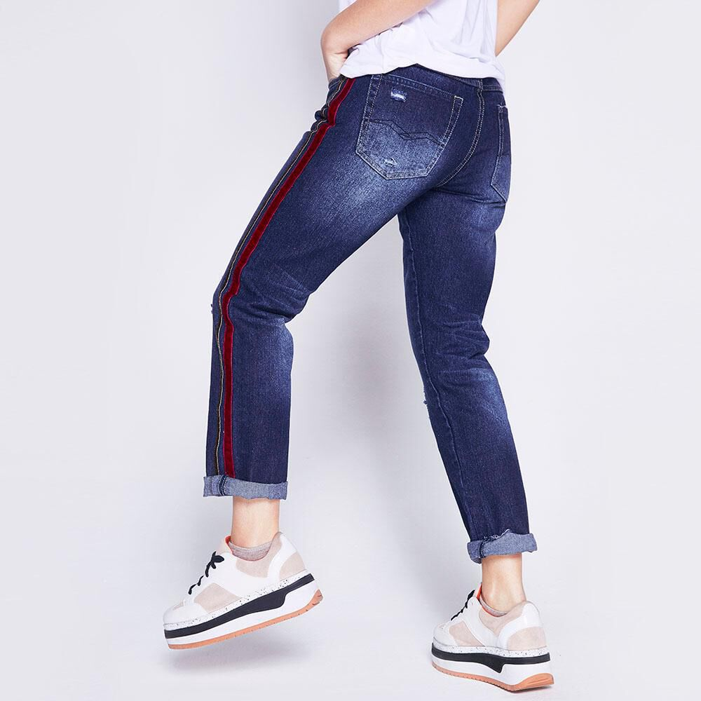 Jeans Mom Lineas Laterales Mujer Freedom image number 2.0