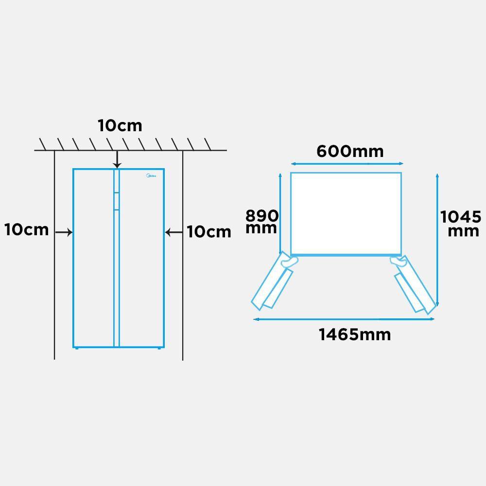 Refrigerador Side By Side Midea MRSBS-5300G689WE / No Frost / 527 Litros image number 5.0