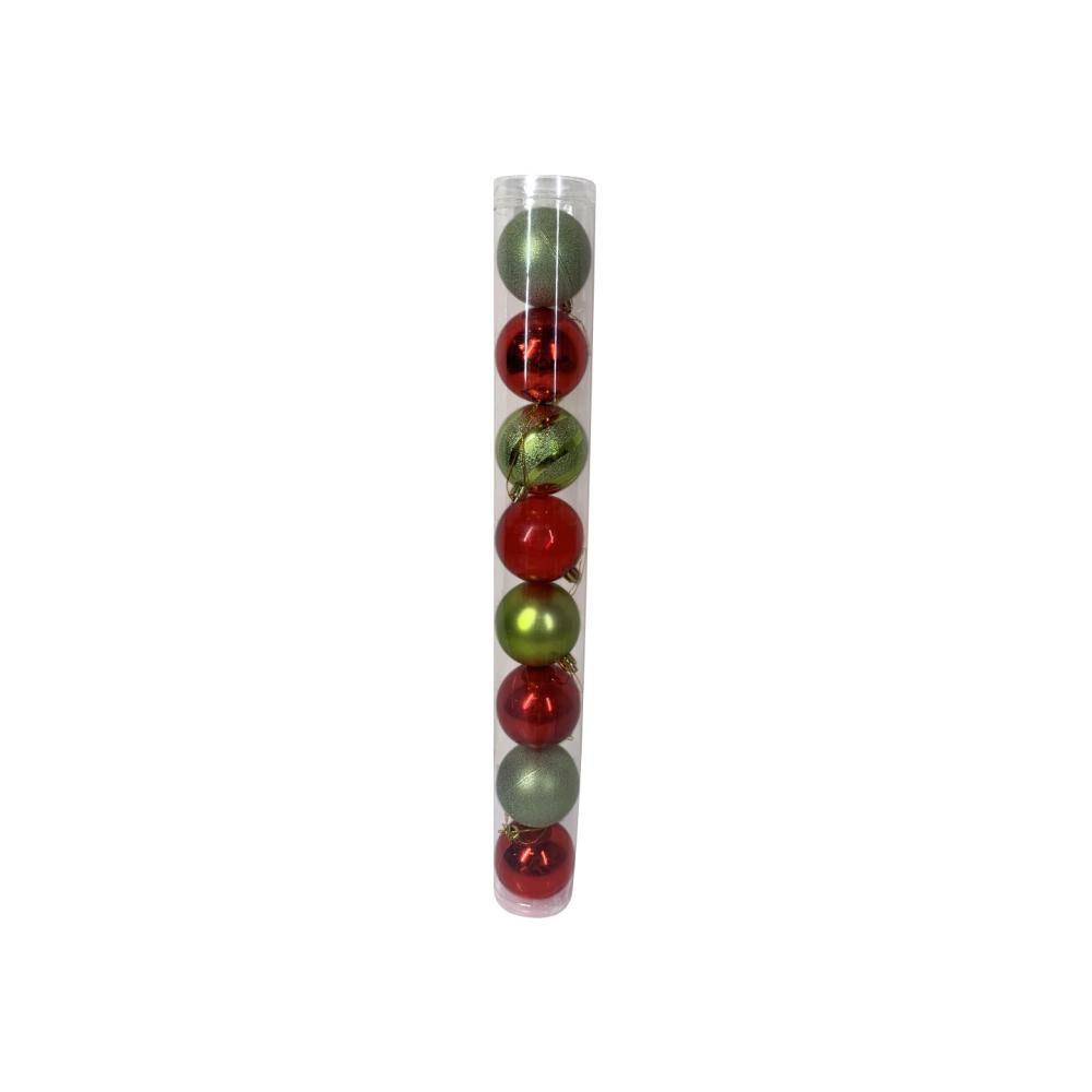 Esferas Casaideal Rojo/verde 8 Piezas image number 0.0