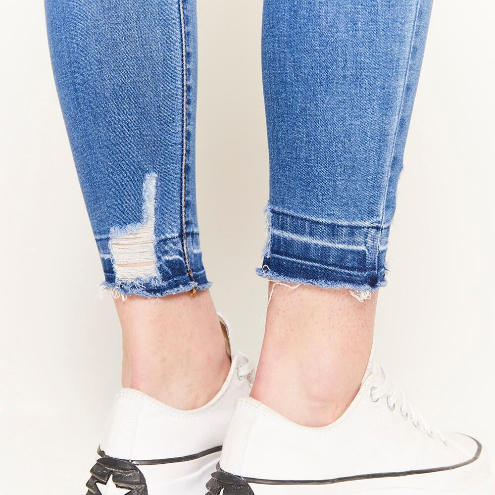 Jeans Rotura Tiro Alto Super Skinny Mujer Freedom image number 5.0